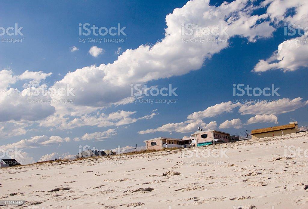 Beach houses royalty-free stock photo