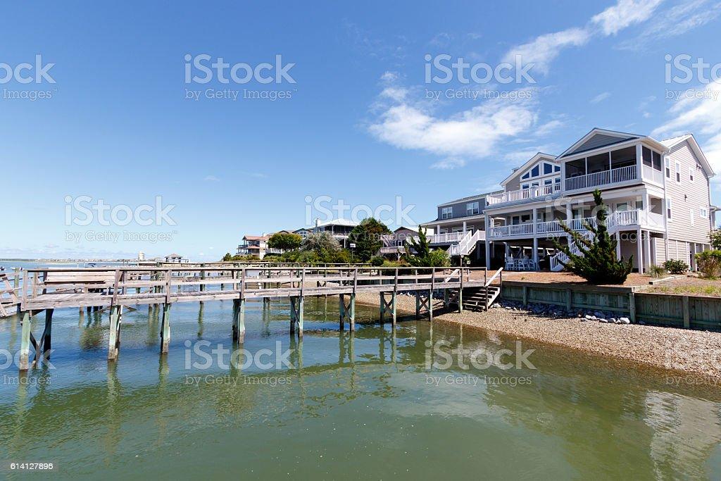 Casas de playa - foto de stock