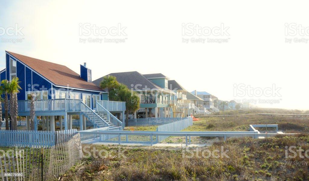 Strand-Häusern – Foto