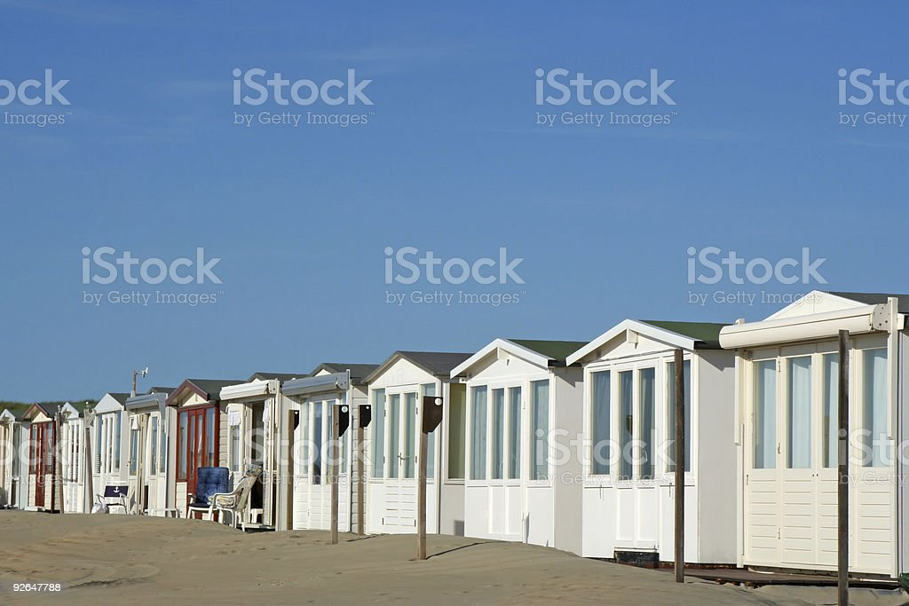 Beach houses # 1 royalty-free stock photo