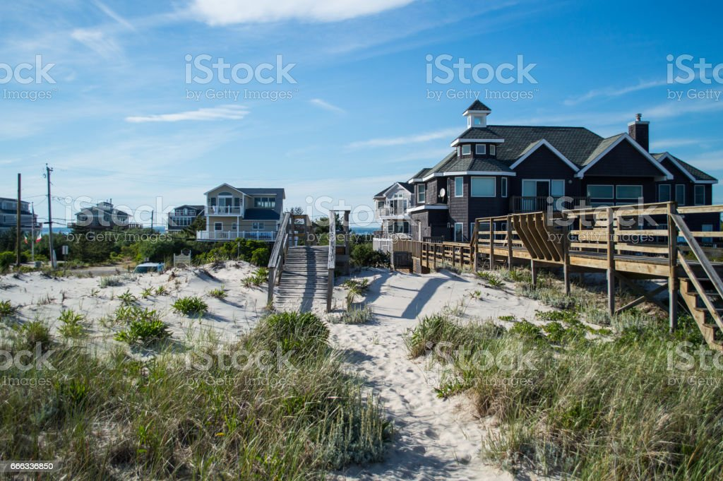 Beach Houses – Summer in the Hamptons, New York City, USA - foto de stock