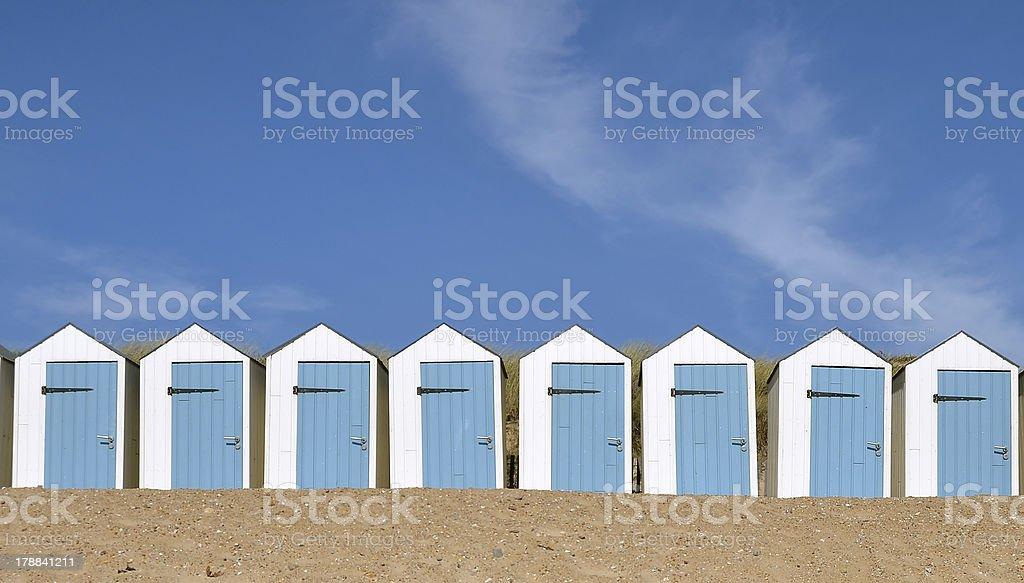 Beach hut in french Vendée region stock photo