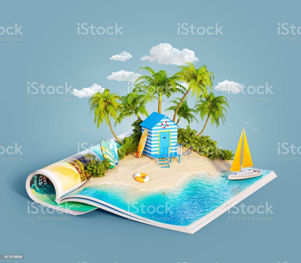 Strandhütte auf einem Sandstrand – Foto