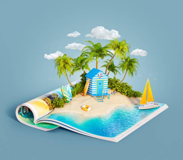 strandhütte auf einem sandstrand - digital surfer stock-fotos und bilder