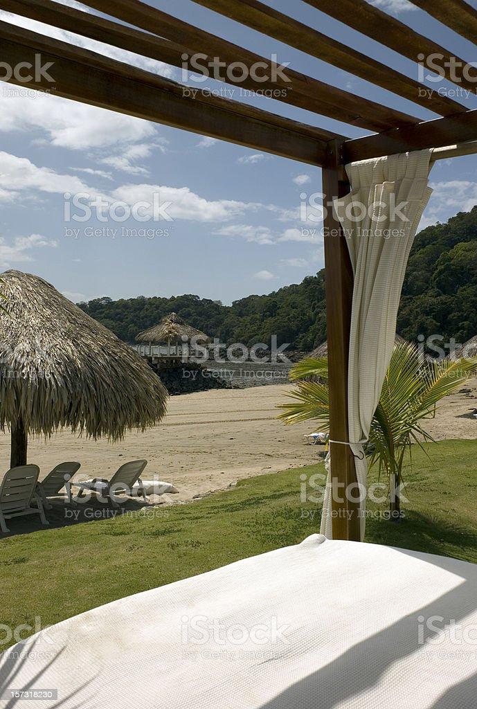 Beach hut royalty-free stock photo