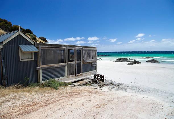 Beach Hut stock photo