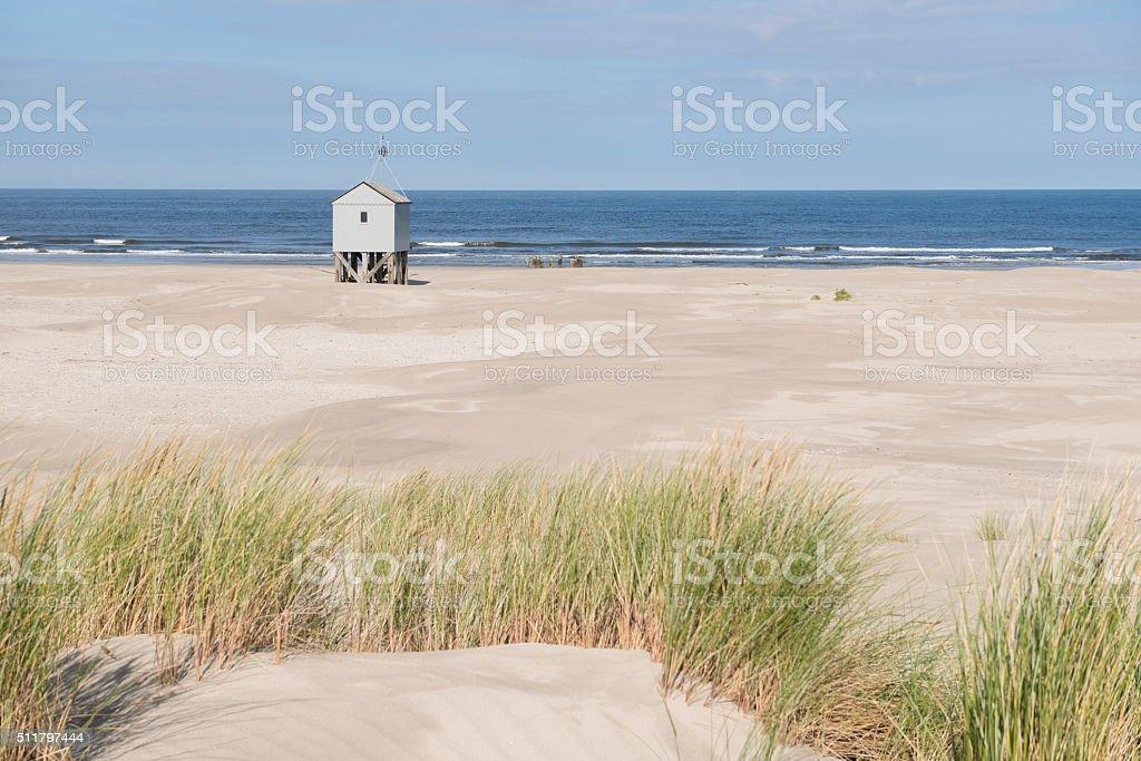 Beach hut. stock photo