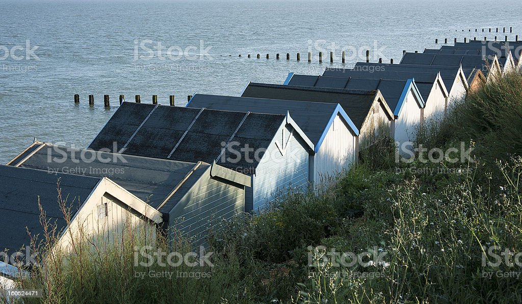 Beach Huts at Clacton-on-Sea, Essex, UK. royalty-free stock photo