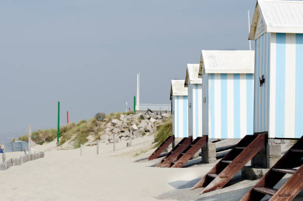 Beach huts at Hardelot, Le Touquet, France