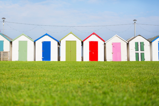 Beach Huts At Paignton Stock Photo - Download Image Now
