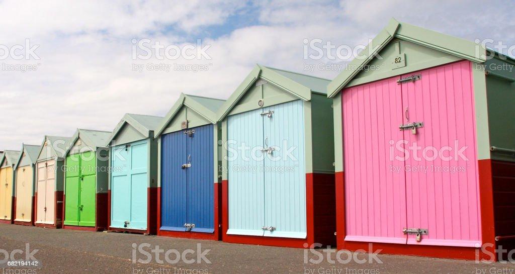 Beach Huts Brighton stock photo