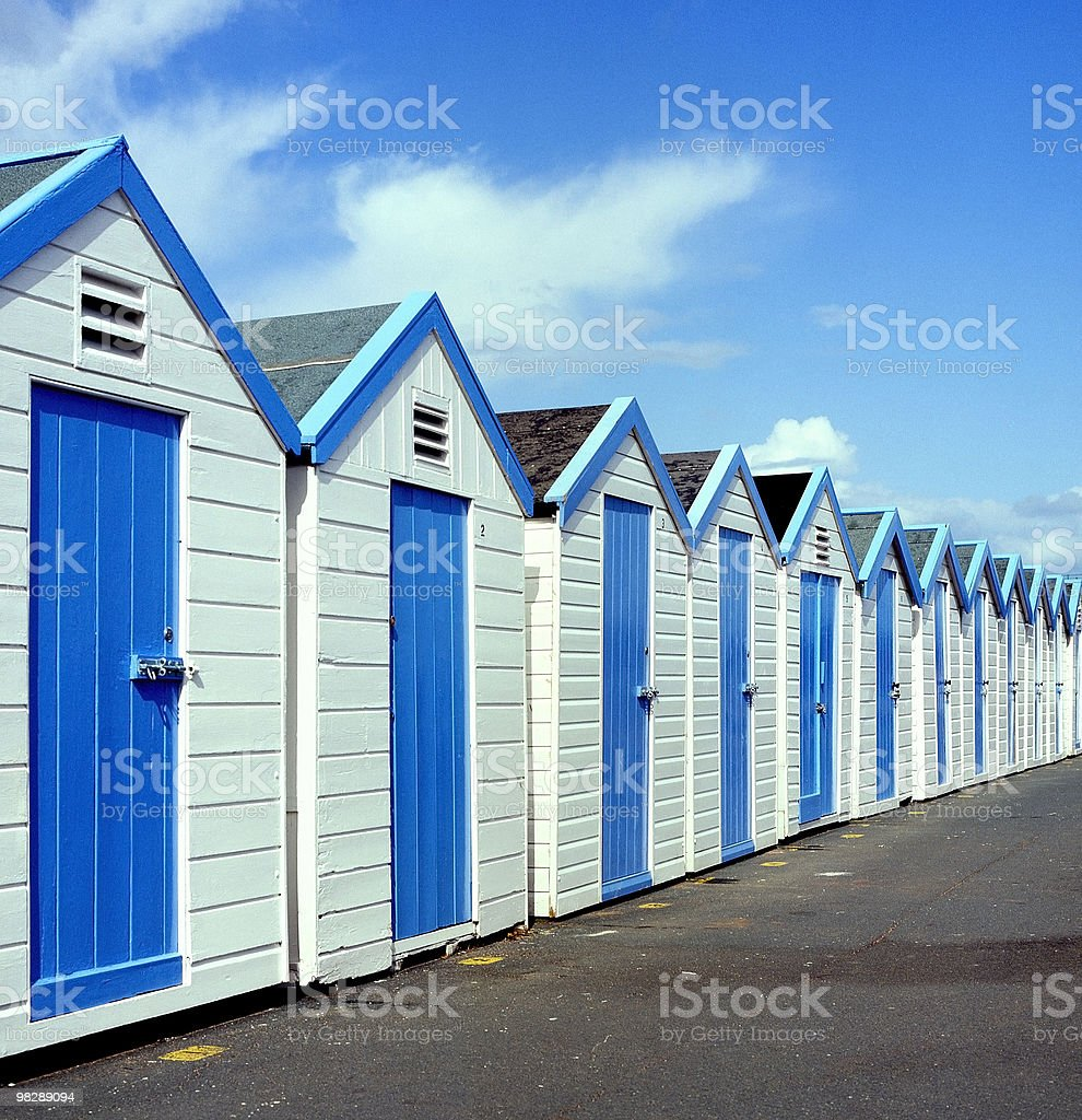 Beach Huts. Hove. East Sussex. England royalty-free stock photo