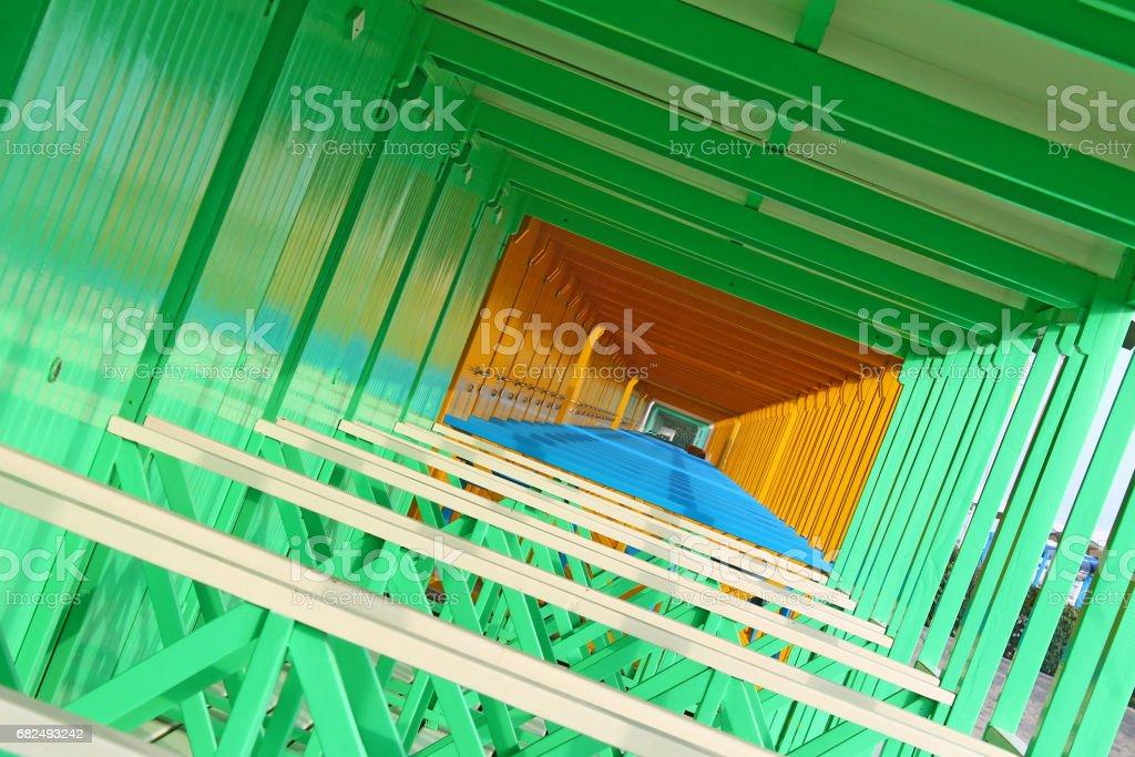 Beach huts in Forte dei Marmi royalty-free stock photo