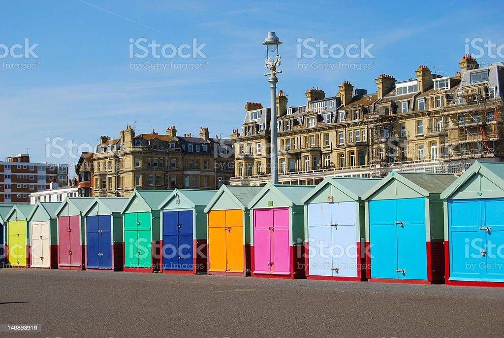 Beach Huts in Hove/Brighton stock photo
