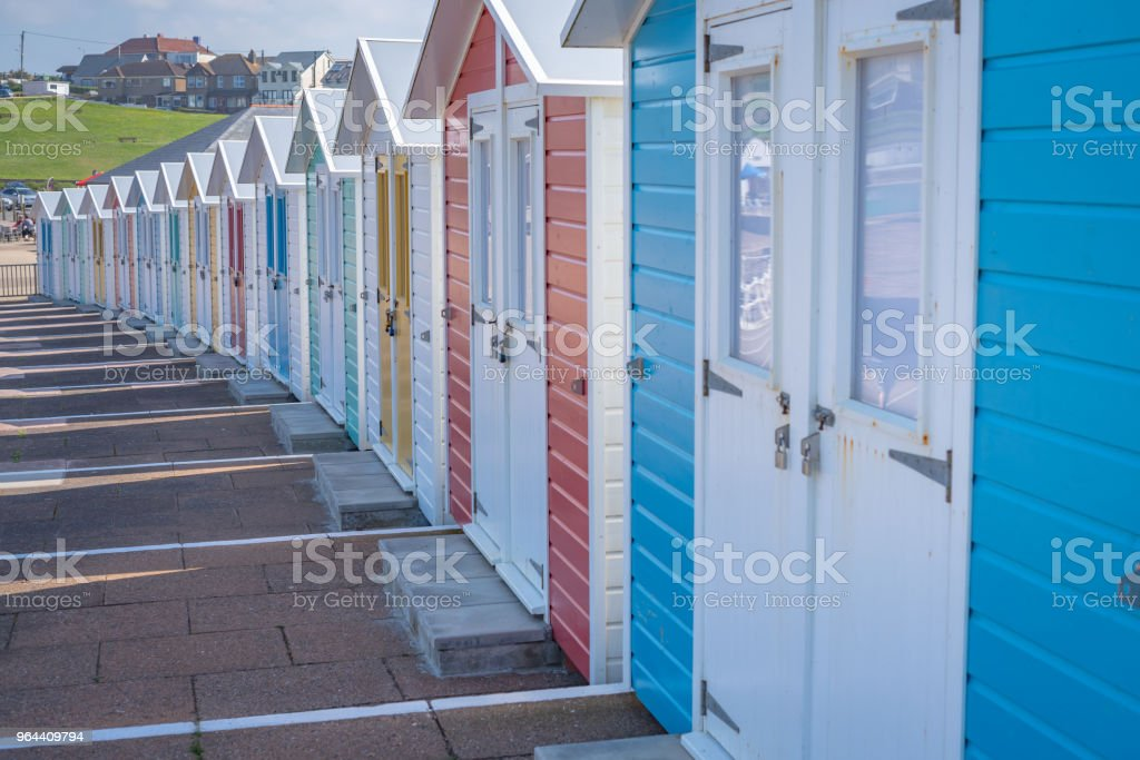 Beach huts in the Bude, Cornwall - Royalty-free Architecture Stock Photo