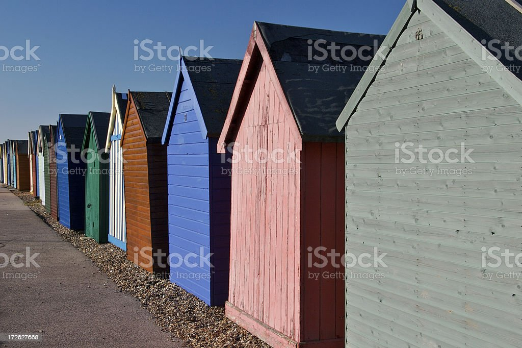 Beach huts in the South East of England. royalty-free stock photo