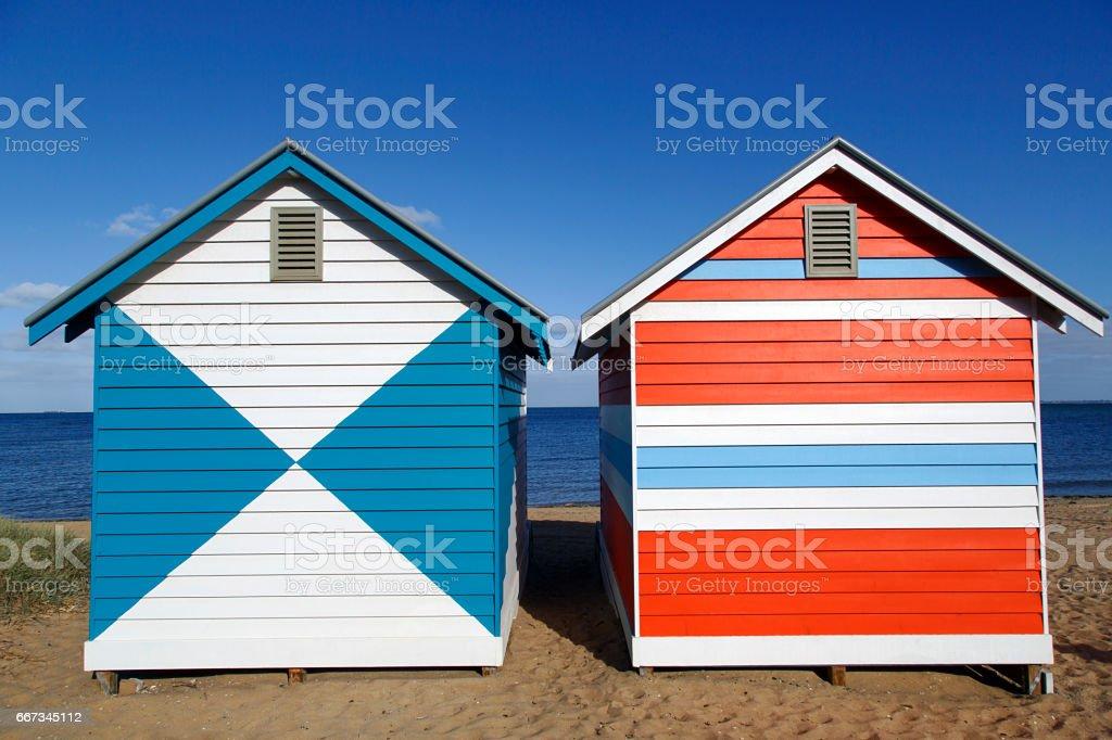 Beach Huts - Melbourne stock photo