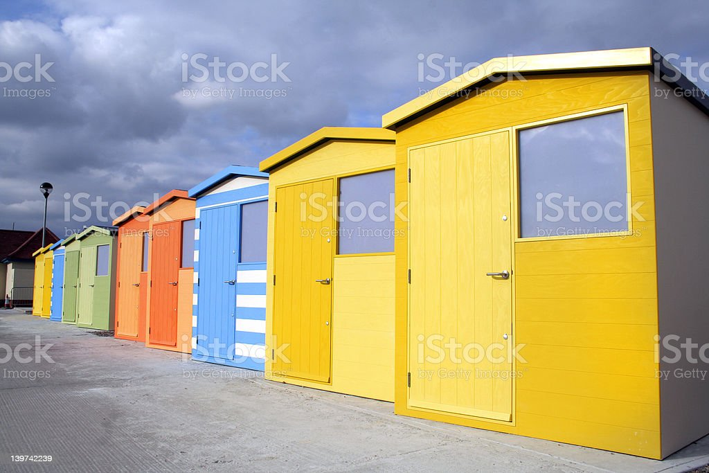 Beach huts royalty-free stock photo