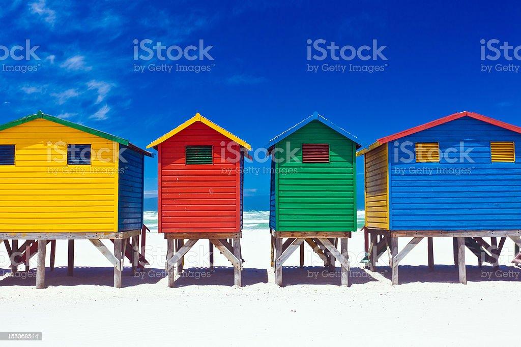 Beach Huts royalty-free stock photo