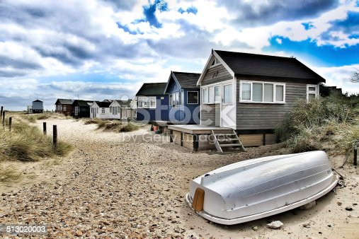 Typical English Beach Huts