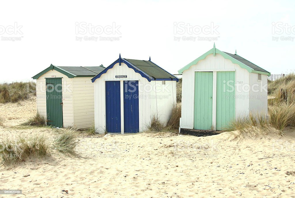 Capanne sulla spiaggia foto stock royalty-free