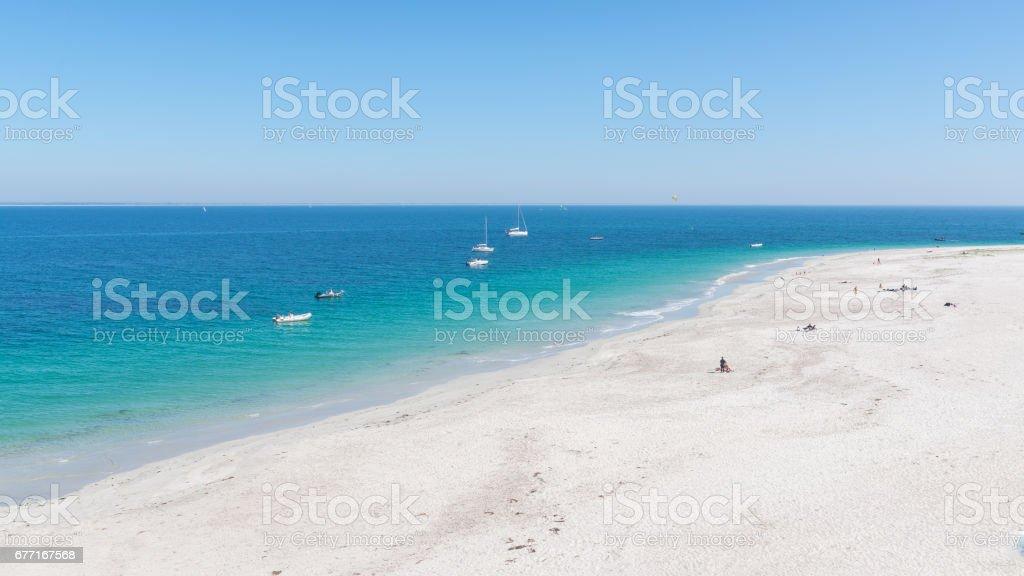 Beach, ile de Groix in Morbihan stock photo