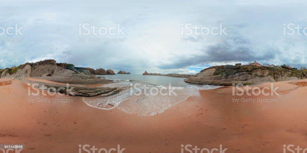 Playa en 360 º - foto de stock