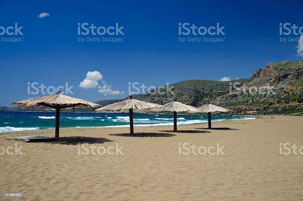 Beach in Agios Nikolaos stock photo