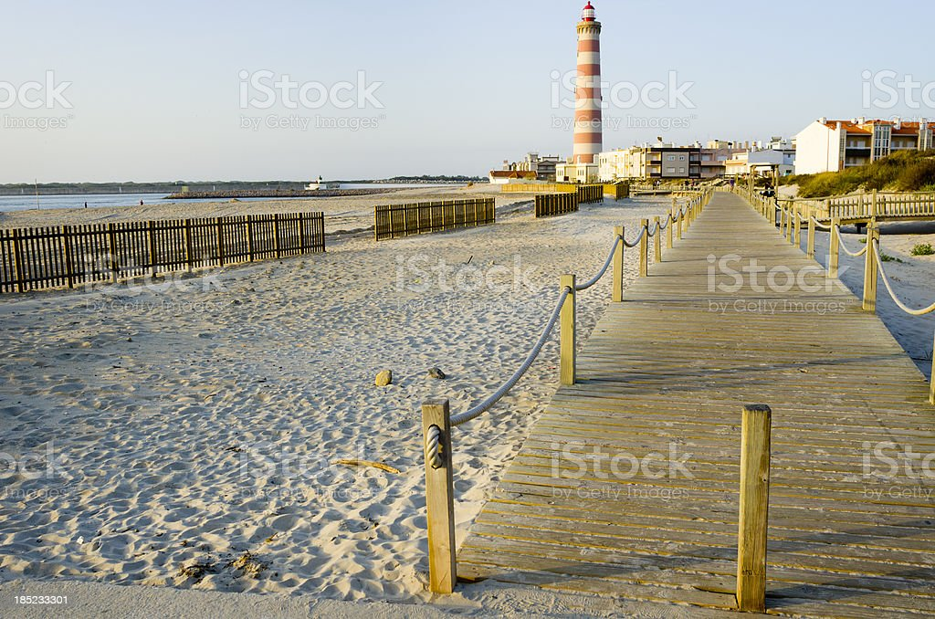 Beach in Aveiro, Portugal royalty-free stock photo