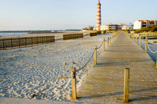 Beach In Aveiro Portugal Stock Photo - Download Image Now