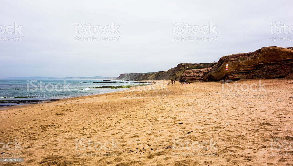 Beach in Baleal stock photo