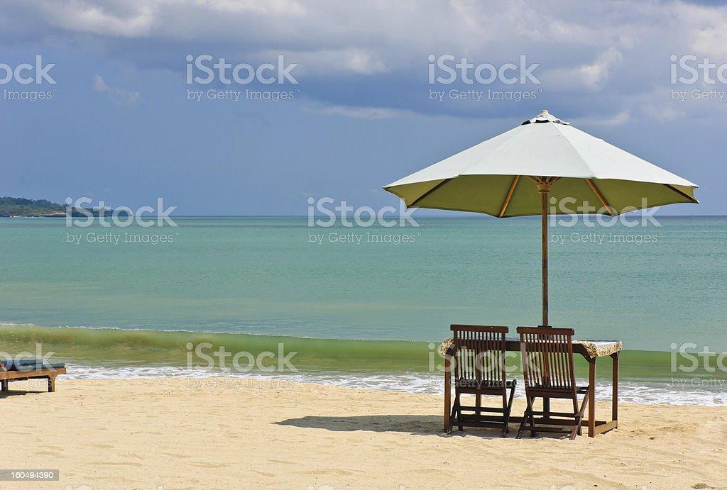 Beach in Bali, Indonesia stock photo