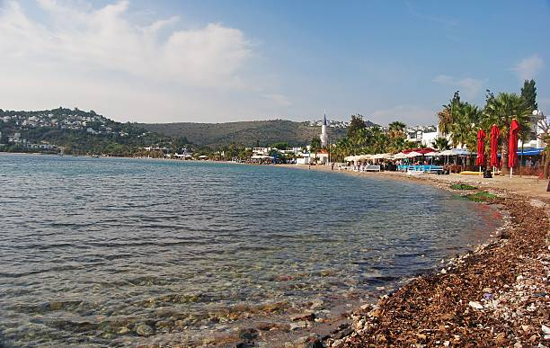 beach in bitez, turkey. - 굼베 뉴스 사진 이미지