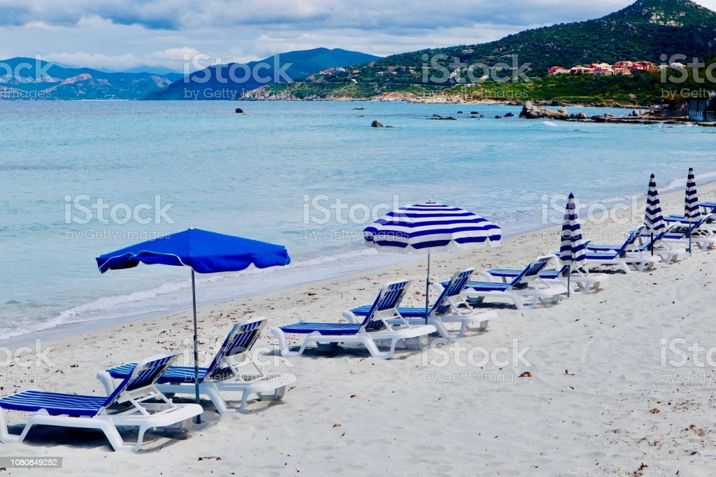 Beach in blue stock photo