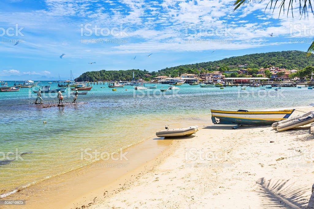 Beach in Buzios, Rio de Janeiro stock photo