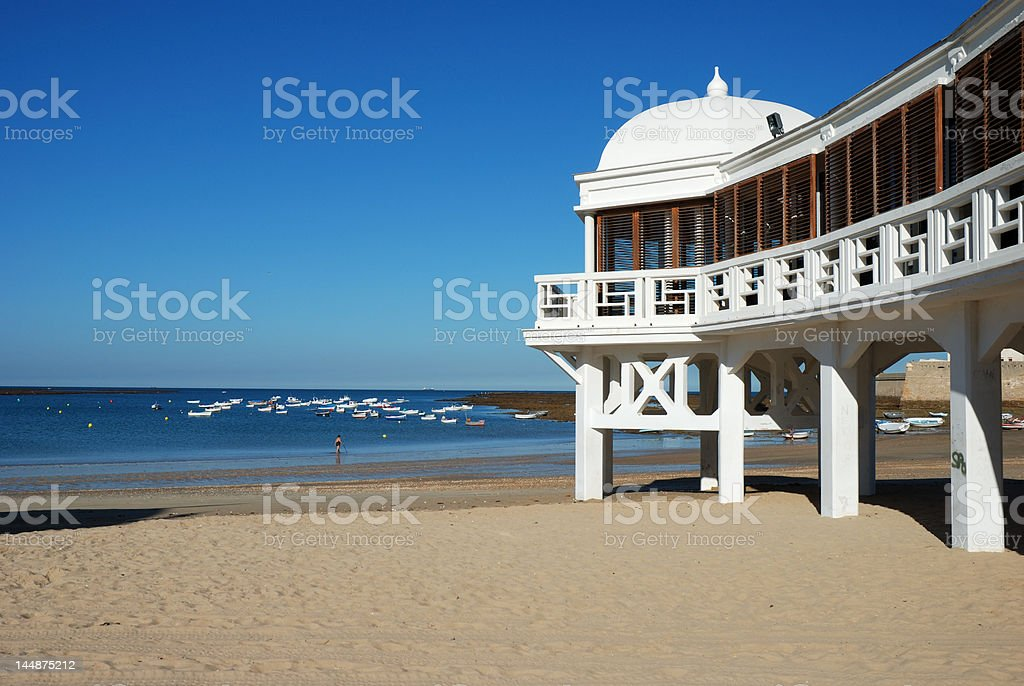 Beach in Cadiz stock photo