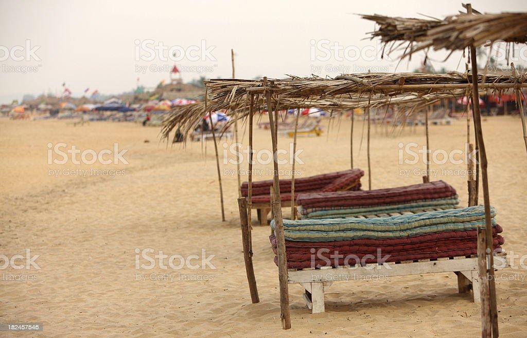 Playa de Candolim foto de stock libre de derechos
