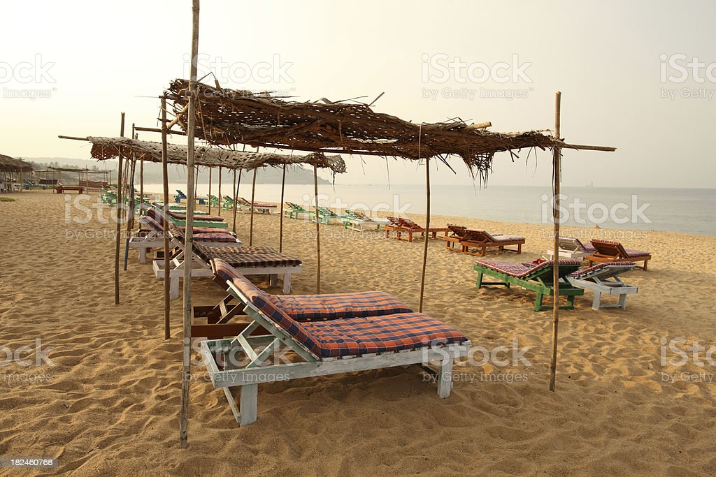 Beach in Candolim stock photo