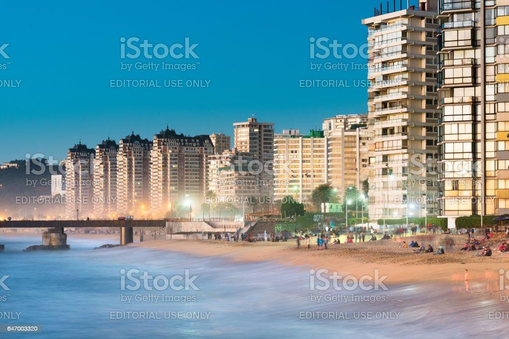 Beach in Chile stock photo