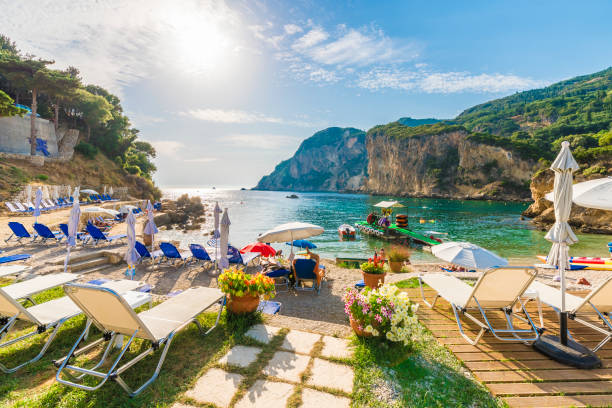 Beach in Corfu Island