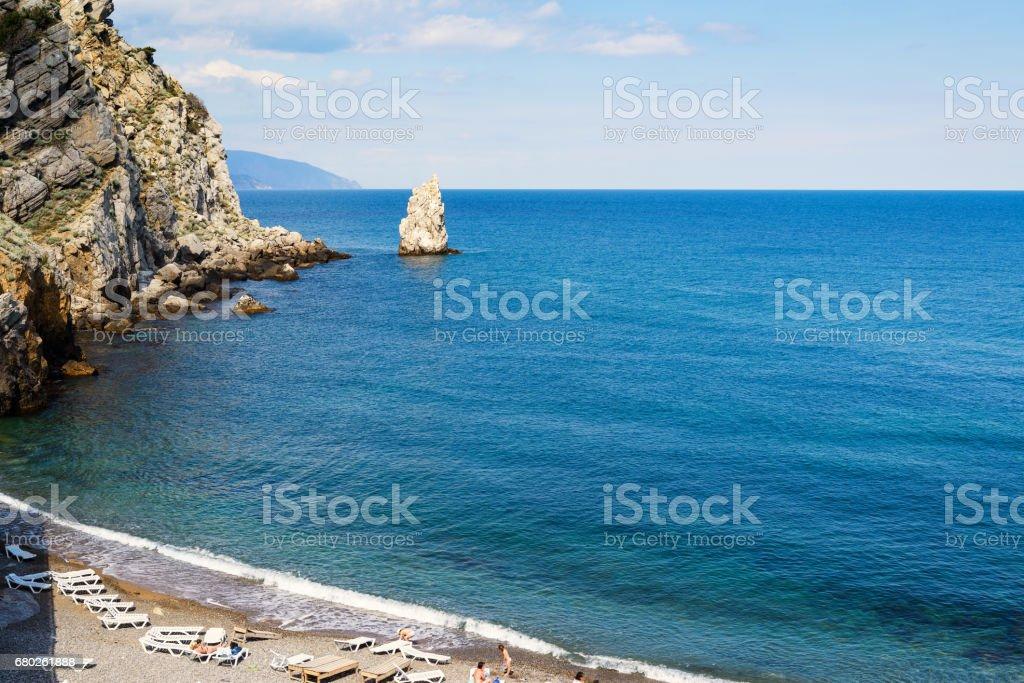 Beach in Crimea stock photo