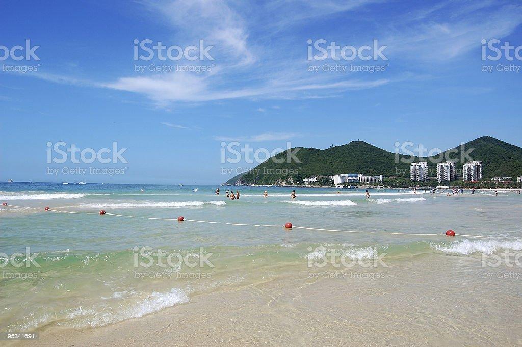 Beach in Dadunhai bay stock photo
