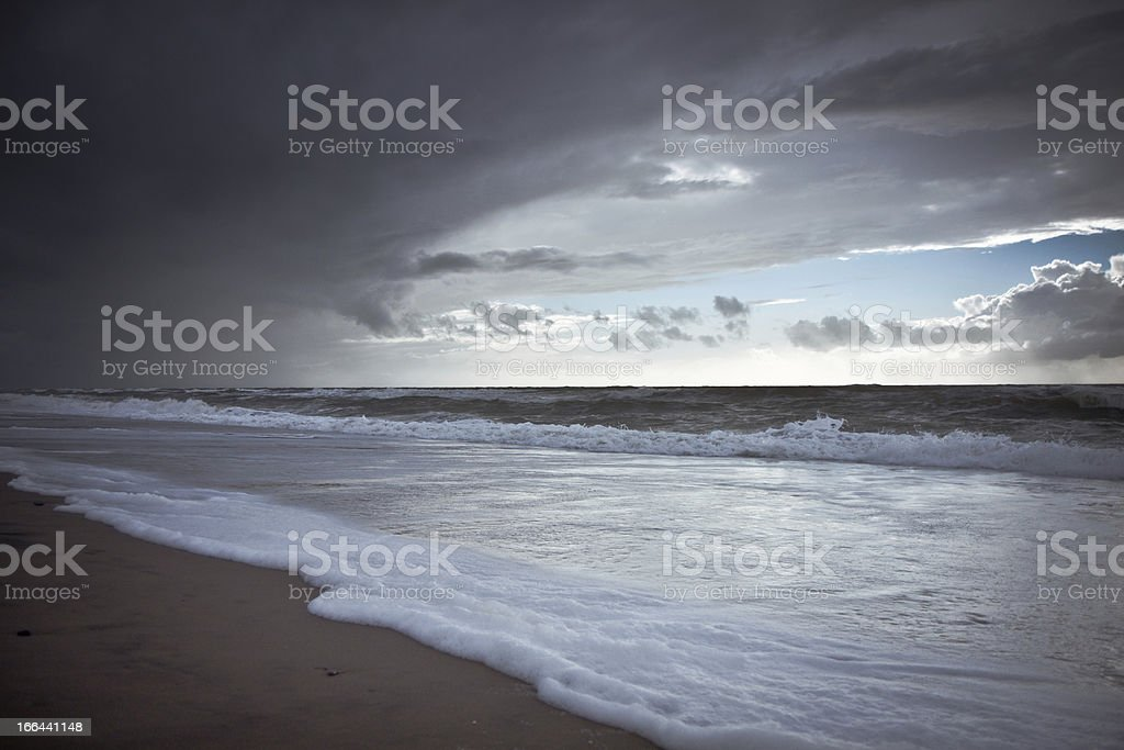 beach in danmark royalty-free stock photo