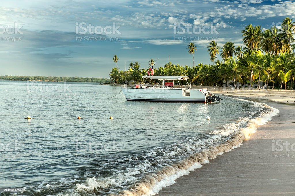 Beach in Dominican Republic stock photo