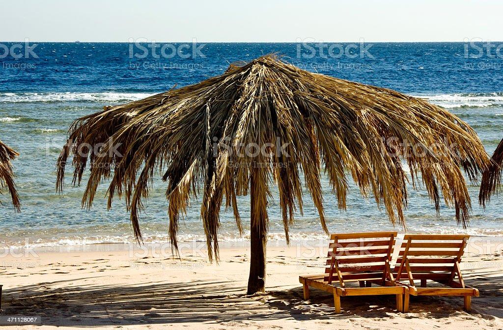 Beach in Egypt royalty-free stock photo