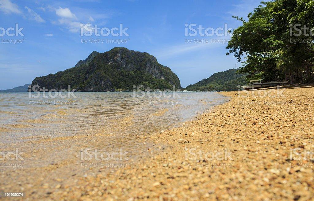 beach in el nido palawan royalty-free stock photo