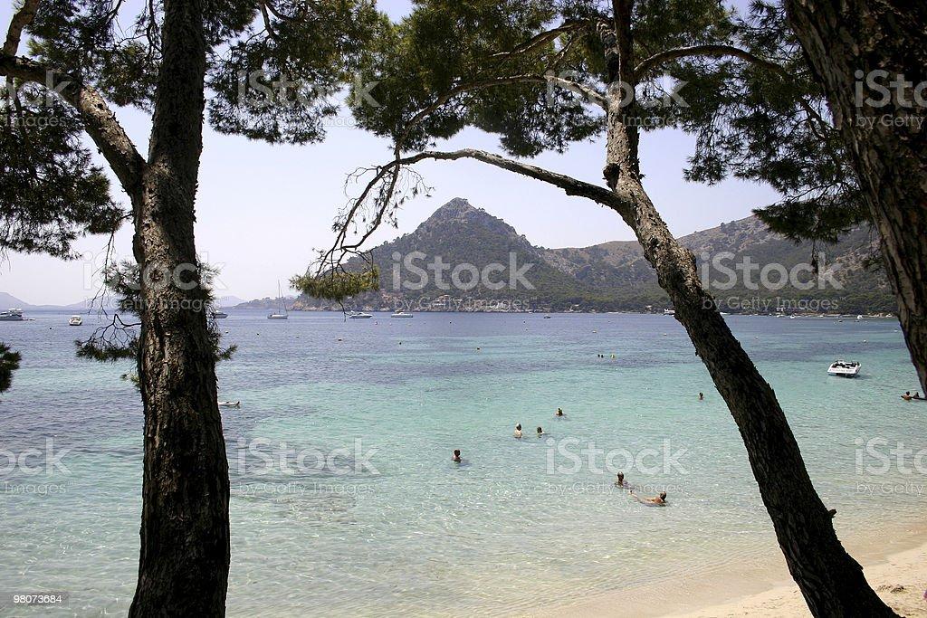 Spiaggia di Formentor foto stock royalty-free
