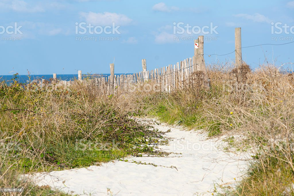 Ein Strand in Frankreich stock photo