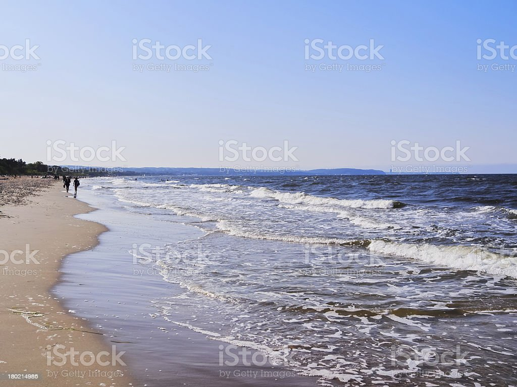 Beach in Gdansk stock photo