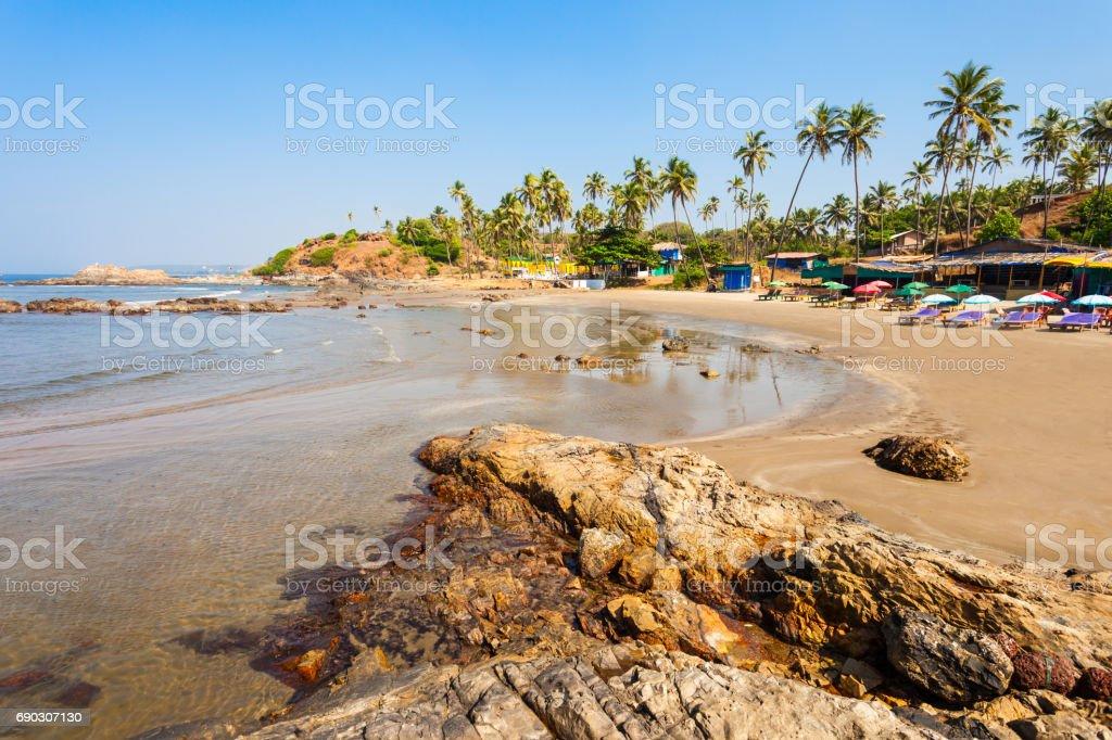 Beach in Goa, India stock photo